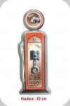 Enseigne vintage 3D  Pompe à essence Car show