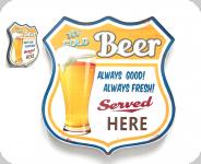 Enseigne vintage 3D  Ecusson R66 Beer