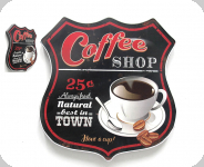 Enseigne vintage 3D  Ecusson R66 coffe shop