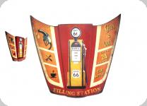 Enseigne vintage 3D / Capot filling station