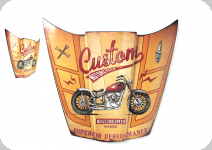 Enseigne vintage 3D / Capot custom motarcycle