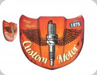Enseigne vintage 3D / Capot custom motor