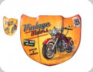Enseigne vintage 3D / Capot Vintage motor