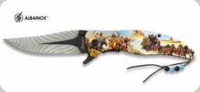 Couteau Pliant Cow Boy Indien 3D   Lame de 9 cm