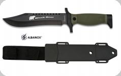 Couteau Tactical  BLACK BEAR    Noir avec étui pour ceinture
