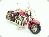 Moto Métal Harley rouge