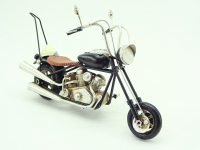 Moto Métal petit chopper noir