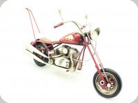 Moto Métal chopper rouge