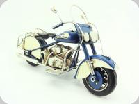 Moto Métal style Harley bleu