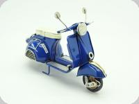 Moto Métal Vespa Bleu