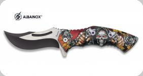 Couteau Pliant Skull revolver 3D   Lame de 8.5 cm