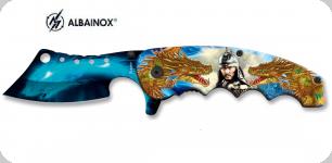 Couteau pliant dragon et guerrier   lame de 9 cm