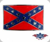 Boucle de Ceinture  drapeau confédéré email
