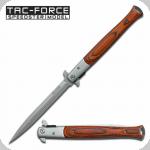 Couteau Pliant automatique Big Boy  Stiletto Bois Lame de 14.5 cm