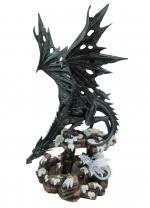 Dragon Heilyn avec dragon bébé   de 48 cm