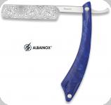 Couteau rasoir old bleu  lame de 8 cm