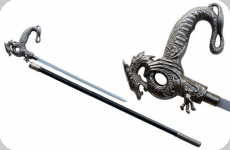 Canne épée dragon chinois royal