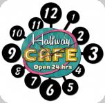 Horloge vintage 3D  Enseigne Halfway Caffé