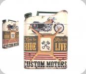 Deco vintage 3D  forme jerrican  Custom Motors Harley