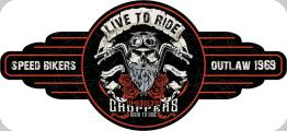 Enseigne plaque vintage 3D  live to ride