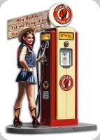 Enseigne plaque vintage 3D / pin up mohawk gasoline