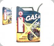 Deco vintage 3D  forme jerrican  Gas oil
