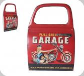 Decor mural vintage 3D  portière Garage Pin Up