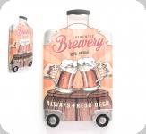 Decor mural vintage 3D  valise Brewery