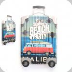 Decor mural vintage 3D  valise Beach Party