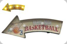 Enseigne vintage 3D à Led  Basketball
