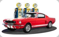 Enseigne plaque vintage 3D  Ford mustang rouge