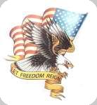 Enseigne plaque vintage 3D  Let freedom reign