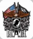 Enseigne plaque vintage 3D  Pow Mia