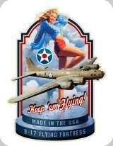 Enseigne plaque vintage 3D  Keep em flying