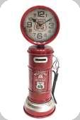 Decor mural vintage 3D  Pompe Tirelire Horloge